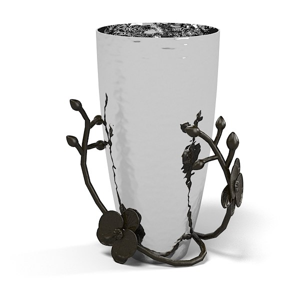 Stainless Steel Mini Vase Black Orchid Michael Aram Designer designers home decor accent accessory art.jpg