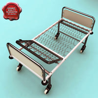 steel hospital bed c4d