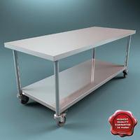 steel movable operating table 3d model