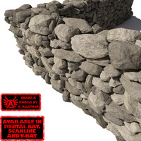Stone Wall 3 - Grey Tan 3D Rock Wall