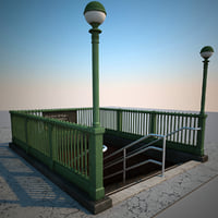 subway entrance v4 3d c4d