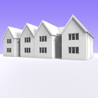 3d british 2 storey semi detached model