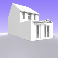 3d british 2 storey house