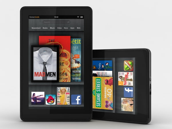amazon kindle 3d model - Amazon Kindle Fire... by Evgeny Prasolov