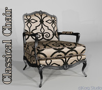 3d model classical chair