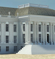 3d neoclassical building palace