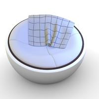 3d model sphere chair