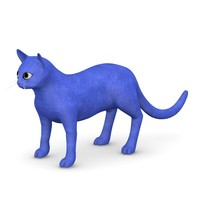 cat cartoon 3d obj