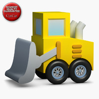 3d model construction icons 28 bulldozer