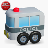3d construction icons 50 police model