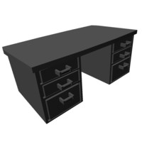 3d model desk drawer