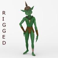 3d model of goblin rig