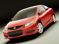 honda civic coupe 3d model