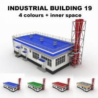 medium industrial building 19 3d 3ds