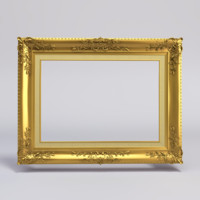 gold painting frame 3ds