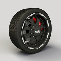 Wheel MotoMetal 959 rim and tyre