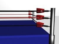 wrestling ring 3d max