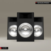 black subwoofer chrome speakers 3d obj
