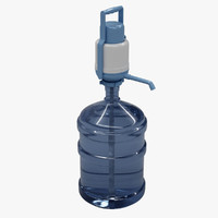 water pump bottle 5 obj free