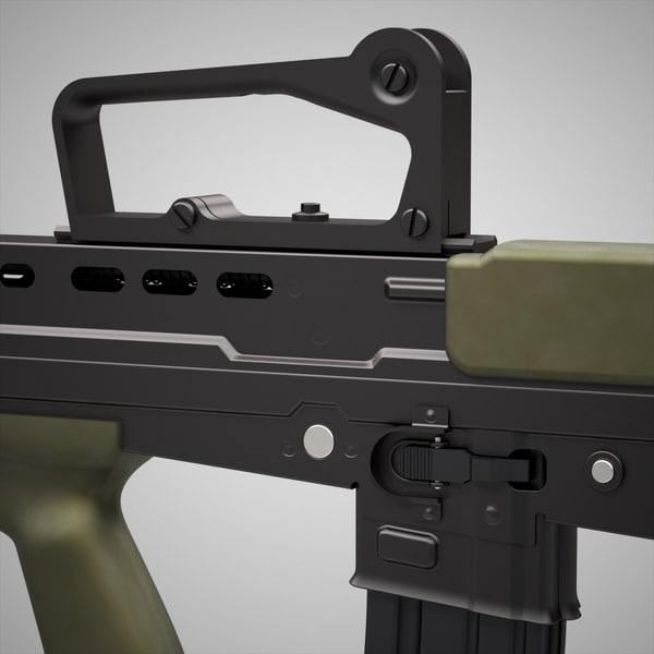 nato rifle assault c4d - L85A2 assault rifle... by Shakudo