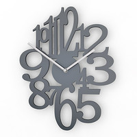 analog decorative wall clock 3d max