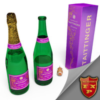 3ds max champagne bottle