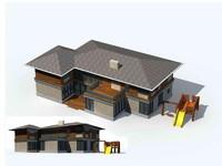 3d exterior rendering 1 model