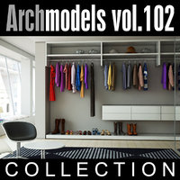 archmodels vol 102 wardrobes c4d