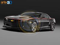 3d camaro hurst model