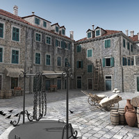 3dsmax dubrovnik medieval town