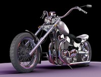 custom suzuki intruder 3d model