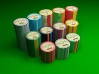 3d poker chips model