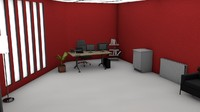 3d dream office model