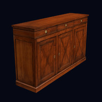 Antique Cabinet, Low Poly