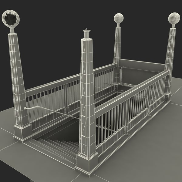 3d c4d subway entrance v1 - Subway Entrance V1... by 3d_molier