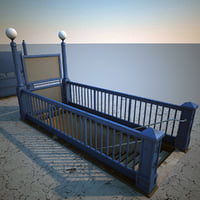 subway entrance v3 3d model