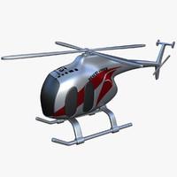 3d toy helicopter v5 model