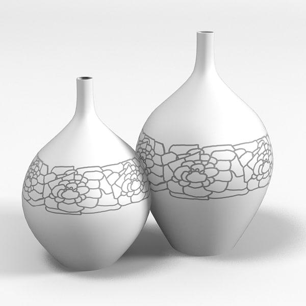 vase set modern max. Black Bedroom Furniture Sets. Home Design Ideas