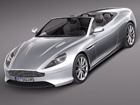 3d aston martin virage 2012 model