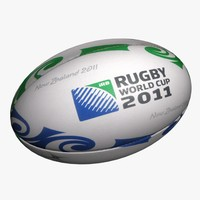 3d rugby ball