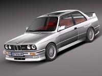 3d model bmw e30 1985 1991