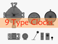 9  Clocks collection