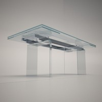 3d max cattelan italia delta dining table