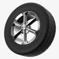 obj nissan wheel r17