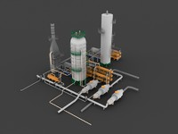distillation unit 3d model