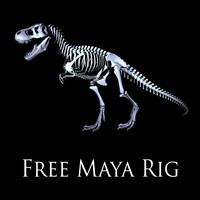 trex skeleton rig obj free