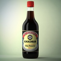 soy sauce bottle 3d obj