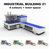 3d medium industrial building 21 model