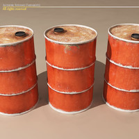 3d old rusty barrel model
