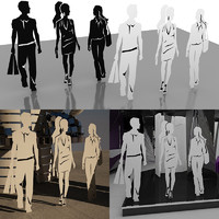 human outlines 3d max